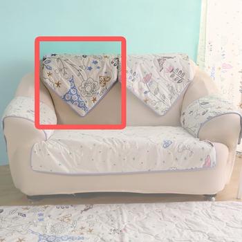 HomeBeauty 極度涼感精梳棉沙發布坐墊-椅背(春漫鐵塔)