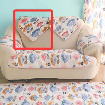 HomeBeauty 極度涼感精梳棉沙發布坐墊-椅背(心花朵朵)