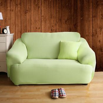 HomeBeauty 舒適恆溫冰晶絲彈性沙發罩-2人座(六色任選)(青蘋果)