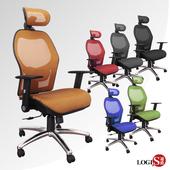 《LOGIS》特級雙網超NICE工學頭枕全網椅/辦公椅/電腦椅(橘雙層特級網坐墊)