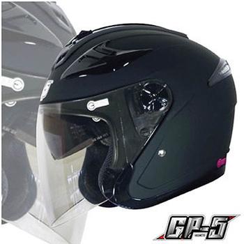 GP-5 【222B 雙鏡片內墨片 3/4 罩安全帽】附原廠帽套、品質保證、尺寸S-XXL(亮黑S)