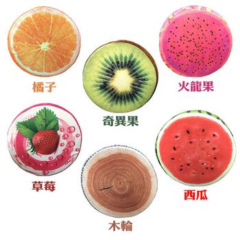 《家可》3D水果造型絨毛坐墊(草莓)