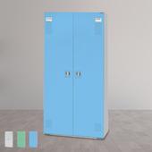 《時尚屋》HDF多用途一抽二層置物櫃(三色可選)(藍色)