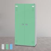 《時尚屋》HDF多用途五層雙門置物櫃(三色可選)(綠色)