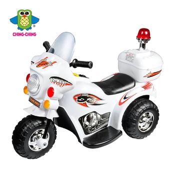 親親 皇家警察電動摩托車(白)