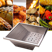 《樂生活》專利1秒收納超薄不鏽鋼烤肉爐/烤肉架(附收納套)~中秋/野餐/露營必備