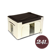《WallyFun》摺疊防水收納箱 -24L(米白色) ~超強荷重款