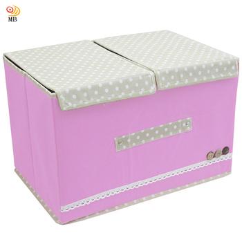 月陽 田園風38X25雙蓋硬盒式大衣物雜物整理箱收納袋(45L)