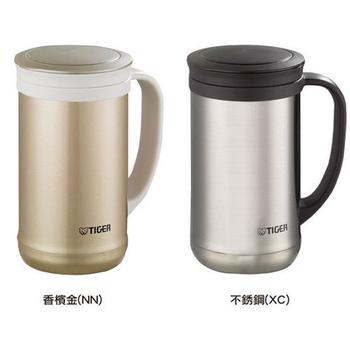 虎牌 0.5L不銹鋼真空茶濾網辦公杯 MCM-T050(不鏽鋼)