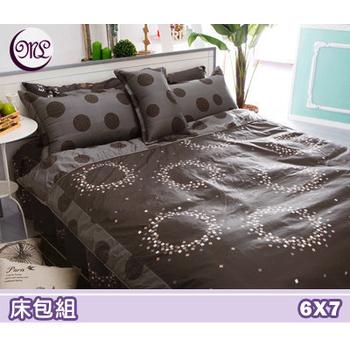 《名流寢飾家居館》絢麗世界.100%精梳棉.特大雙人床包組(6*7尺)