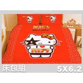 《名流寢飾家居館》我愛 Hello Kitty.標準雙人床包組(5*6.2尺)