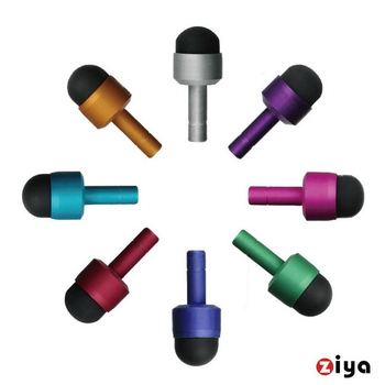 《ZIYA》電容式觸控筆 3.5mm耳機孔塞式 (炫彩色系 2入)(奢華銀)