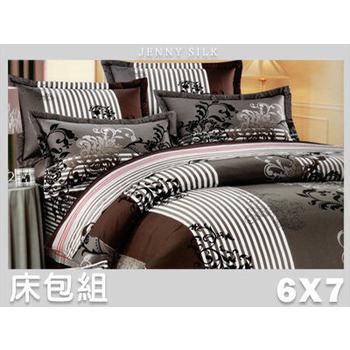 《名流寢飾家居館》藝想世界.100%精梳棉.特大雙人床包組(6*7尺   灰)