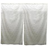 《J&N》朵莉蕾絲雙開式短門簾_白(90*90cm)