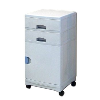 Accessco 日式二抽一門收納櫃/桌邊櫃-附滾輪