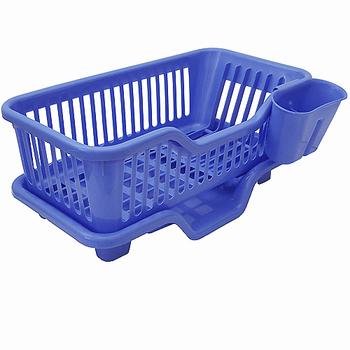 ★結帳現折★ 大容量三件式優質全塑排水式碗盤筷籠收納架(735515)