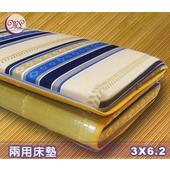 《名流寢飾家居館》冬夏兩用竹面硬式透氣床墊-單人(3*6.2尺)