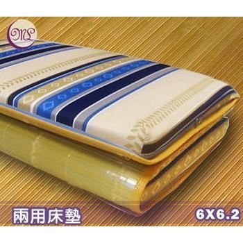 《名流寢飾家居館》冬夏兩用竹面硬式透氣床墊-加大雙人(6*6.2尺)