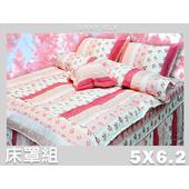 《名流寢飾家居館》花粉之戀.100%精梳棉.標準雙人床罩組全套(標準雙人5*6.2尺)
