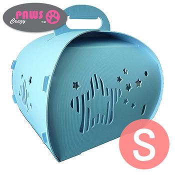 crazypaws瘋狂爪子 伊西歐甜心可折疊寵物提箱 S(粉藍)