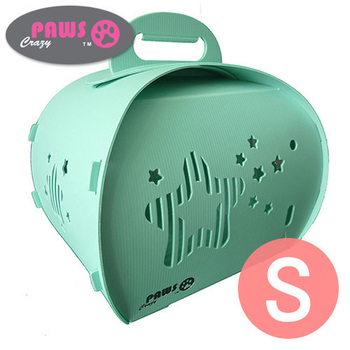 crazypaws瘋狂爪子 伊西歐甜心可折疊寵物提箱 S(薄荷綠)