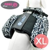 《crazypaws瘋狂爪子》野愛自然時尚旅行護胸-XL(藍灰豹紋)