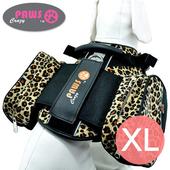 《crazypaws瘋狂爪子》野愛自然時尚旅行護胸-XL(棕色豹紋)