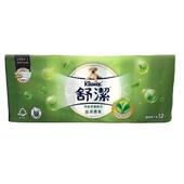 《舒潔》清新綠茶拉拉抽取式衛生紙(110抽X12包/ 串)