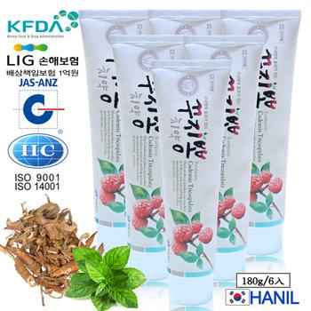 韓一製藥 桑白皮植粹護理亮白牙膏(180g 6入熱銷組)