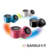 《SANSUI 山水》免持通話/無線藍牙播放器/四色(USP101)