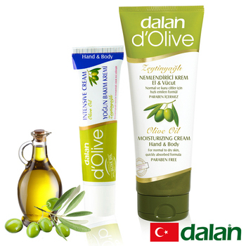 土耳其dalan 頂級橄欖身體護手深層強效滋養修護霜(1大1小體驗組)