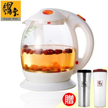 鍋寶 1.7L養生快煮壺+休閒咖啡保溫杯2入(EO-KT1715SVC50205021)