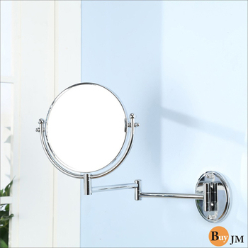 BuyJM 全銅伸縮2.5倍放大雙面浴鏡/化妝鏡(電鍍色)