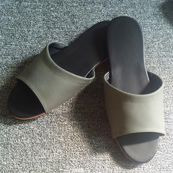 iSlippers 台灣製造-簡約系列-純色皮質室內拖鞋(細紋灰XL)