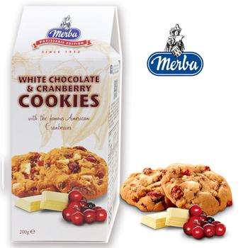 Merba摩巴 頂級軟餅-白巧克力蔓越莓(200g/盒)