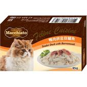 《瑪奇朵》貓餐盒系列-豪華口味的極致選擇(鴨肉拚金目鱸魚-85g)