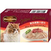《瑪奇朵》貓餐盒系列-豪華口味的極致選擇(鮪魚嫩雞小肥牛-85g)