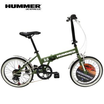 HUMMER 悍馬 HM2100 20吋7速高碳鋼折疊車(消光綠)