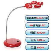 《威勁》NICELINK TL-207E4 (R) LED 節能檯燈【含稅免運】(紅色)