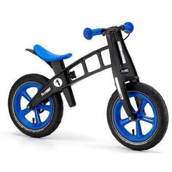 FIRSTBIKE 德國高品質設計 寓教於樂-兒童滑步車/學步車(黑金鋼藍)