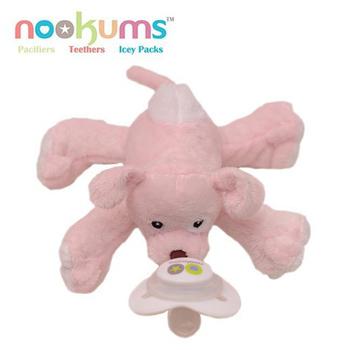 【BabyTiger虎兒寶】 【nookums】美國品牌 安撫奶嘴玩偶 - 拉拉狗(拉拉狗)