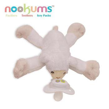 【BabyTiger虎兒寶】 【nookums】美國品牌 安撫奶嘴玩偶 - 甜蜜羊(甜蜜羊)