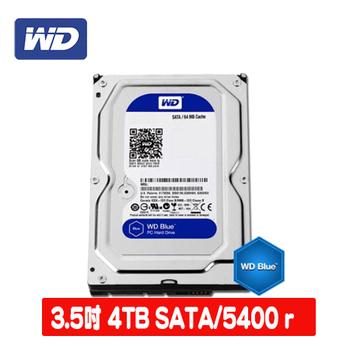 WD 威騰 Blue 4TB 3.5吋SATAIII 硬碟(WD40EZRZ)