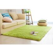 《幸福揚邑》舒壓長毛羊絲絨超軟防滑吸水地毯-80x160cm(青草綠款)