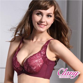 可蘭霓Clany 雙卉魅惑蕾絲水美人ABC內衣 (葡萄紫 8992-95)(C70/32)