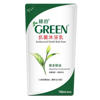 《綠的GREEN》抗菌沐浴乳補充包-綠茶精油(700ml*12)