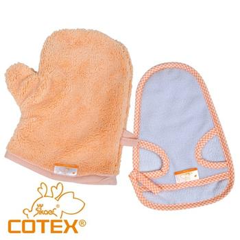 COTEX可透舒 寶寶洗澡手套巾2入組