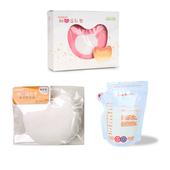 《COTEX可透舒》母乳用品三件組(防溢乳墊+補充包+母乳冷凍袋 40入)(粉紅)