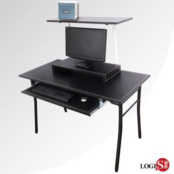 ★結帳現折★LOGIS 超耐用馬鞍皮3件組電腦桌架/工作桌(馬鞍桌3件組)