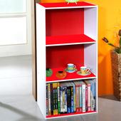 《Frama》DIY三格收納櫃/書櫃 (2入組)(紅白)